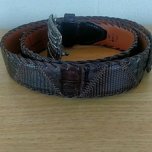 Martin Dingman Accessories - Martin Dingman Cayman Crocodile & Java Lizard Belt